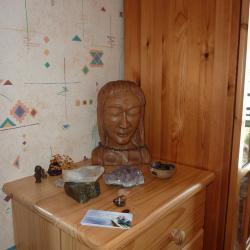 Statue de Bouddha sculptée par mon grand-pére