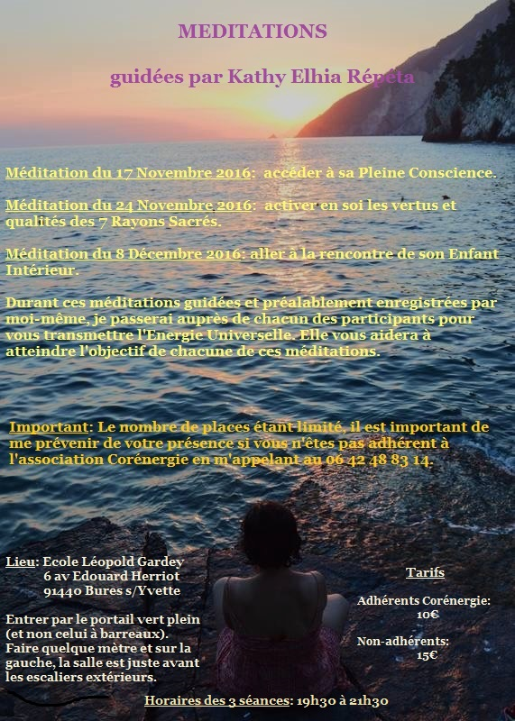 161026 meditations du 17 et 24 nov et 8 dec 1